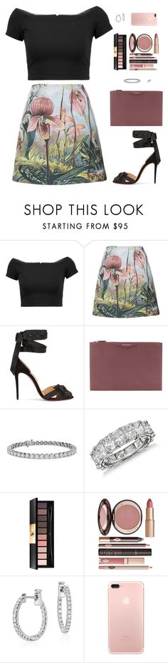 """Sin título #4831"" by mdmsb on Polyvore featuring moda, Alice + Olivia, ADAM, Christian Louboutin, Givenchy, Blue Nile, Yves Saint Laurent y Charlotte Tilbury"