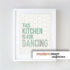 Modern Typography Kitchen Art