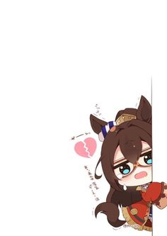 Chibi Girl, Cute Anime Chibi, Game Character, Derby, Minnie Mouse, Disney Characters, Fictional Characters, Geek Stuff, Horses