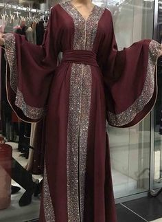 Made in Dubai Abaya. A stunningly beautiful dubai Stone abaya - Dresses Abaya Fashion, Muslim Fashion, Modest Fashion, Fashion Dresses, Women's Fashion, Korean Fashion, Fashion Online, Moda Hijab, Mode Abaya