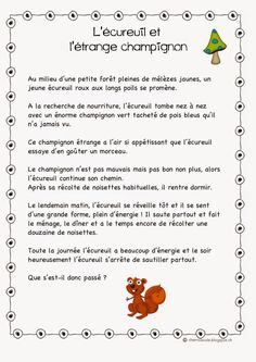 Calm And Learn French Videos Writing Comprehension, Comprehension Worksheets, Education And Literacy, French Education, Teaching Reading, Teaching Tools, Learning, High School French, French Worksheets