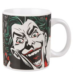 All jokes aside, this is one cool DC Comics mug! Featuring the unmistakable creepy smile, green hair and red lips of Batman's arch enemy, the Joker. xoxo #joker #thejoker #batman #comics #dccomics