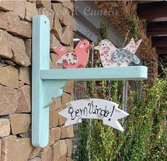 Diy Arts And Crafts, Home Crafts, Diy Crafts, Wooden Projects, Woodworking Projects Diy, Name Plate Design, Spring Crafts, Painting On Wood, Wood Art