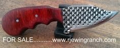 Horse shoer rasp blade........3in. rasp skinner blade,Purvian wood with stainless pins..............FOR SALE.  www.rjewingranch.com
