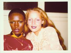 Grace Jones & Jerry Hall, 1975
