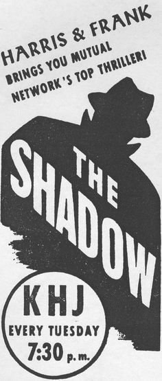 The Shadow | THE SHADOW: The History and Mystery of the Radio Program, 1930-1954 ...