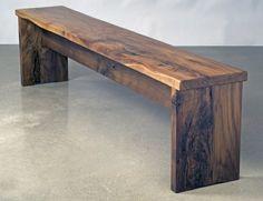 Walnut Bench by Eben Blaney Fine Furniture