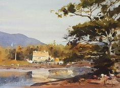 """Andy Evansen     """"The Bait Shop"""", 11 x 15, Maine"""