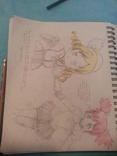 Madoka and Mami By:Brookie_Chan Drawings, Anime, Sketches, Cartoon Movies, Anime Music, Drawing, Portrait, Anime Shows, Resim