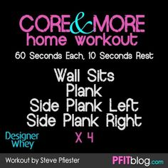 CORE and more workout #fitfluential