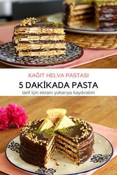 Aşırı Kolay Kağıt Helva Pastası   5 DAKİKADA PASTANIZ HAZIR.