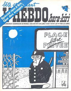L'Hebdo Hara-Kiri - N° 80 - Lundi 10 Août 1970 - Couverture de Gébé