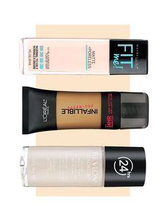 The Best Drugstore Foundations for Oily Skin via @ByrdieBeauty #AcneAndOilySkin