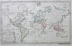 Antique World-Map-Mappe-Monde www.mapsofantiquity.com