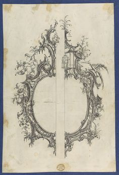 Thomas Chippendale | Pier Glass Frames, in Chippendale Drawings, Vol. I | The Metropolitan Museum of Art