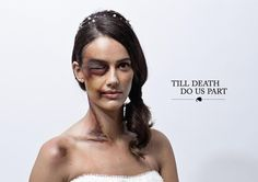 Una foto da campagna delle Nazioni Unite contro la violenza sulle donne © ANSA