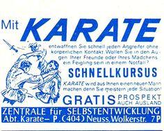 Kleinanzeige für einen Karate-Fernkurs aus den 1960er Jahren