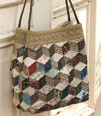 modele tuto sac cube patch patchwork quilt quilting editions saxe edisaxe - patron gratuit