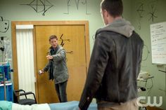 """Supernatural -- """"I Think I'm Gonna Like It Here"""" -- Image SN902b_0035 -- Pictured (L-R): Jensen Ackles as Dean and Tahmoh Penikett as Ezekiel -- Credit: Liane Hentscher/The CW --  © 2013 The CW Network. All Rights Reserved"""