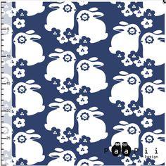 Tissus bio jersey coton Paapii Design Flowerbunnies