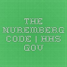 The Nuremberg Code | HHS.gov--Medical code that makes forced vaccinations illegal