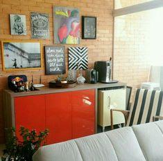 Bar Sala, Living Room Bar, Coffee Bar Home, Coffee Corner, Sweet Home, Interior And Exterior, Interior Design, Cafe Bar, Kitchenette