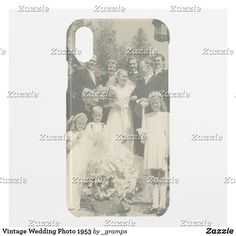 Vintage Wedding Photo 1953 Uncommon iPhone Case Family Portraits, Family Photos, Vintage Wedding Photos, Unique Iphone Cases, Ring Bearer, Groomsmen, Vintage Shops, Monochrome, Black And White