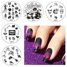 Halloween DIY Nail Art Set Ghost Pumpkin Image Stamping Plates Manicure Printing Template -- Click on the image for additional details. (This is an affiliate link) #NailArtEquipment