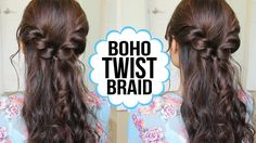 Easy Twist Braid Hairstyle | Hair Tutorial + GIVEAWAY