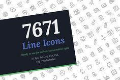 Buy 7671 Line Icons by vectorsmarket on GraphicRiver. A huge collection of line icons based on variety of themes particularly technical aspects of industry. Each icon is u. Icon Design, Web Design, Graphic Design, Design Ideas, Graphic Patterns, Design Projects, Design Trends, Design Art, Modern Design
