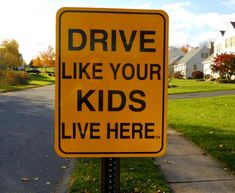 Promote neighborhood safety with aluminum traffic signs. Road Safety Signs, Driving Tips, Pedestrian, Safety Tips, Traveling By Yourself, The Neighbourhood, Police, Diy Ideas, Automobile