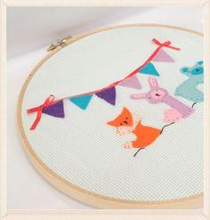 Friends 8 Embroidery Hoop Art Wall Hanging by jenniferstarsullivan,