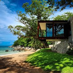 """The NAKA Phuket is a 94 pool villa resort, located in Kamala Bay. The resort is only accessible via an isolated mountain road making it the perfect…"""
