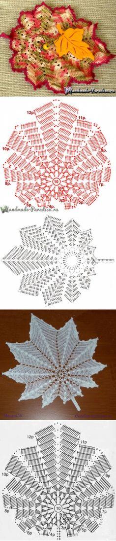 """- La servilleta """"Белое y чёрное"""" por el gancho. La servilleta chiné po… The napkin """"Белое and чёрное"""" on a hook. The napkin chiné by the hook Freeform Crochet, Thread Crochet, Crochet Motif, Irish Crochet, Crochet Designs, Crochet Doilies, Crochet Symbols, Crochet Chart, Crochet Leaves"""
