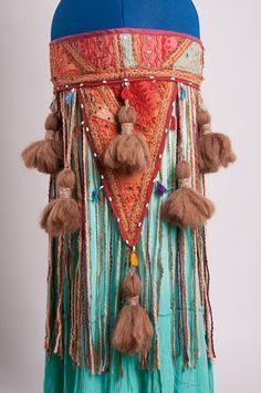 Plus Size Bellydance Tribal Tassel and String Belt by ScarletFairy, $295.00