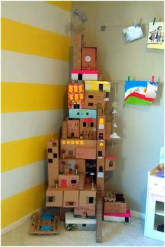 Emérita Desastre: Reciclaje: Casitas y juguetes de cartón para niños