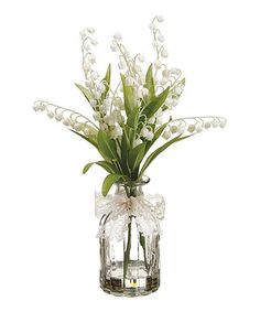 Loving this Lilly of the Valley Glass Pot Arrangement on #zulily! #zulilyfinds