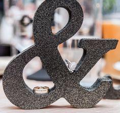 Black Glitter Mr & Mrs Wedding Table Decor | Handmade Wedding Decor & Gifts at www.ZCreateDesign.com... or shop ZCreateDesign on Etsy