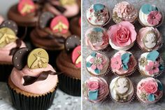 Wedding cupcakes with real wow factor by Olofson Design. How cute are these bee details!