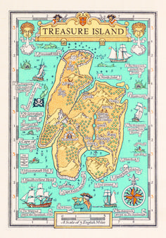 An Atlas of Literary Maps Created by Great Authors: J.R Tolkien's Middle Earth, Robert Louis Stevenson's Treasure Island & Fantasy World Map, Fantasy Books, Robinson Crusoe, Treasure Island Map, Treasure Island Characters, Treasure Maps, Narnia, Design Thinking, Tolkien
