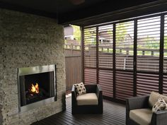 Multi-fold aluminum shutters are a perfect option for privacy and providing enclosure.