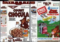 General Mills - Count Chocula - Free Super Bubble bubble gum inside - cereal box - 1983 by JasonLiebig, via Flickr