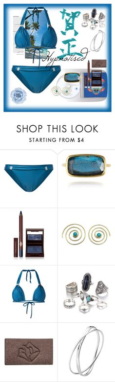 """HYPNOTISED"" by kimberleyh20 ❤ liked on Polyvore featuring ViX, Charlotte Tilbury, Urbiana, Lancôme, Georg Jensen and Monsoon"
