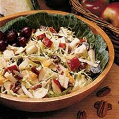Cabbage/Fruit Salad-too much mayo but I like the concept as a side dish
