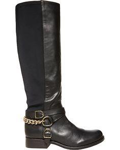 BIKERR BLACK women's boot flat novelty