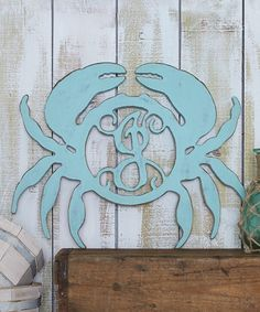 Love this Unfinished Crab Initial Wall Art by Unfinished Wood Co. on #zulily! #zulilyfinds