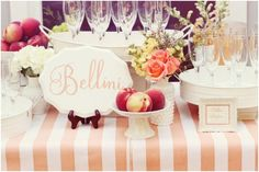 Signature Cocktail Station - Bellini bar before din? Brunch Wedding, Wedding Menu, Free Wedding, Our Wedding, Wedding Ideas, Wedding Trends, Wedding Stuff, Wedding Foods, Wedding Morning