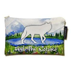 Wysokiej jakości kosmetyczka na drobne przedmioty dla miłośników psów i wilków :)
