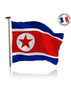 Drapeau Corée du Nord Made in France by Manufêtes