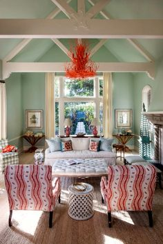 Breezy Traditional in Santa Barbara — The Foo Dog Blog coral branch twig chandelier